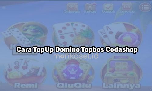 Cara TopUp Domino Topbos Codashop